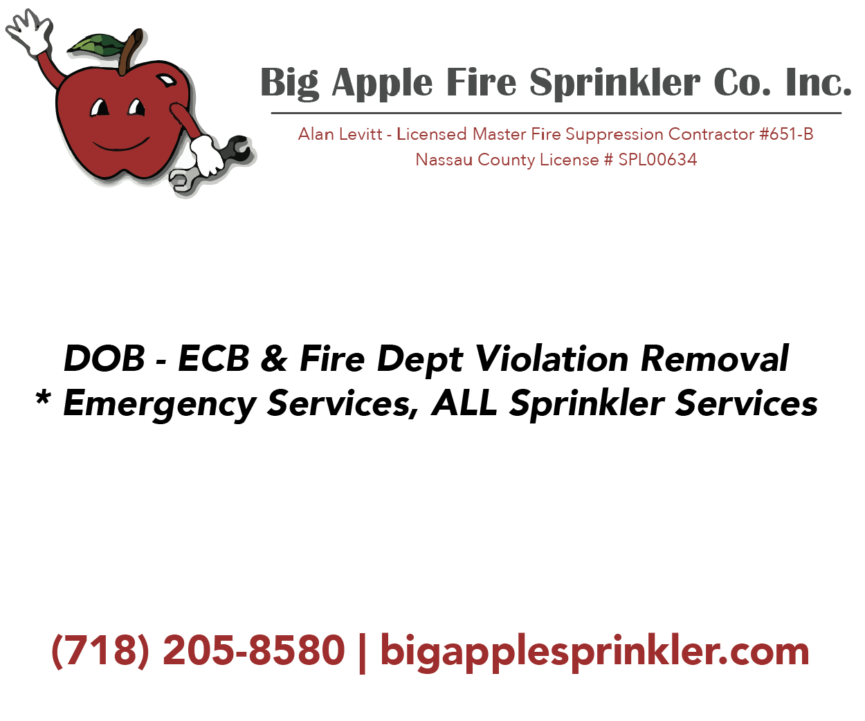Big Apple Fire Sprinkler